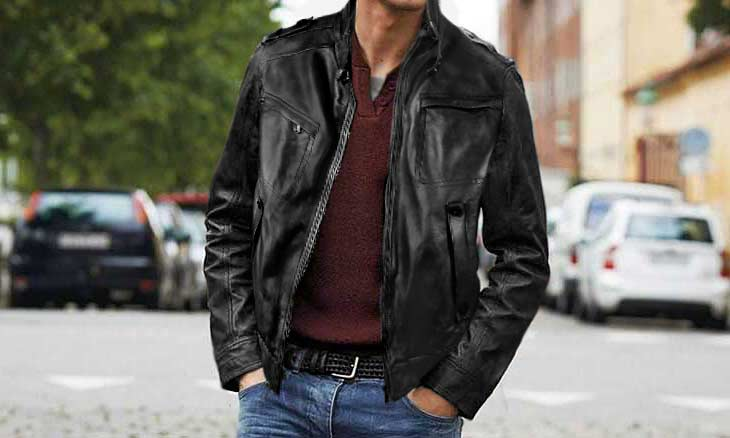 leather jacket for men by pierotucci
