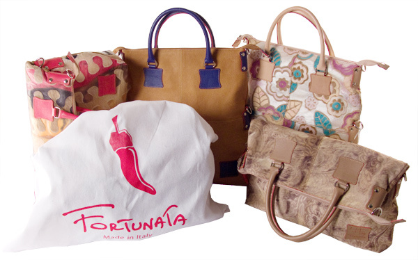 Fortunata storage bags in soft flannel