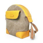 Leather & Canvas Backpack for Kids