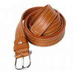 Toscanella leather belt with 4 rows of stitching (3,0 cm)