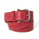 Toscanella leather belt with 6 rows of stitching (4,0 cm)