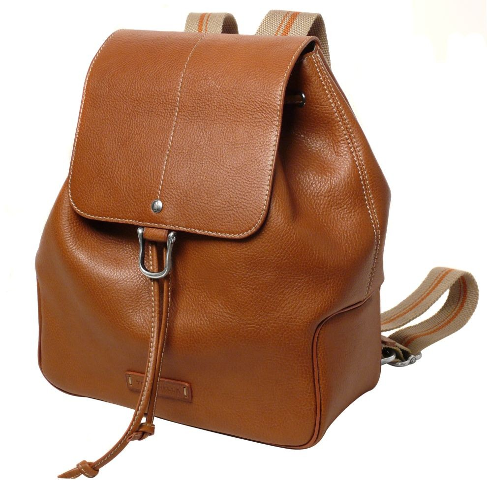 Leather Backpack Bag Hand Made in Italy for Toscanella