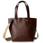 Leather Shoulder Tote Bag for Men from Toscanella