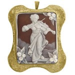 Woman & Violin, hand carved cameo