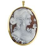 Cameo of Woman with Earrings