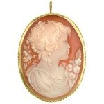 Italian Cameo Carnelian of Young Child