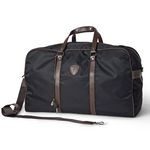 Designer Gym Bag with Leather Accents