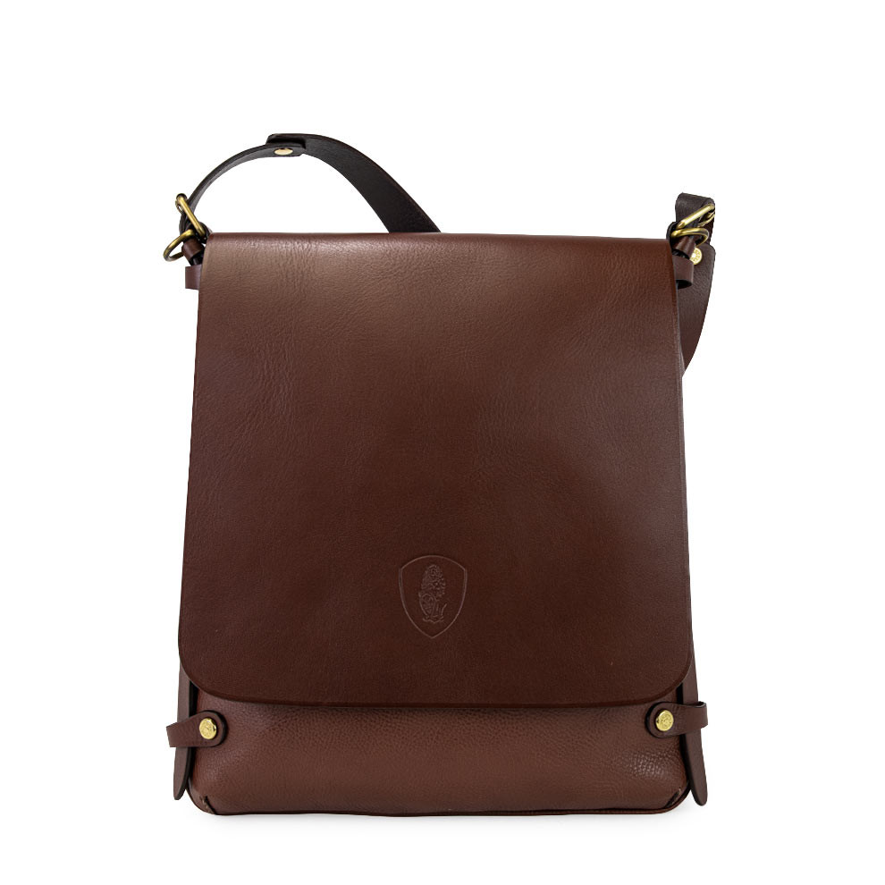 mens leather messenger bag with removable strap pierotucci