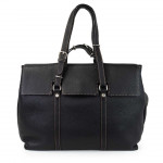 Large Leather Business Tote Bag