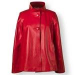 Women's Red Leather Jacket, hand made