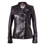 Women's Fitted Leather Blazer