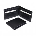 Double bill compartment in wallet 6 credit card slots in billfold 2 multipurpose pockets