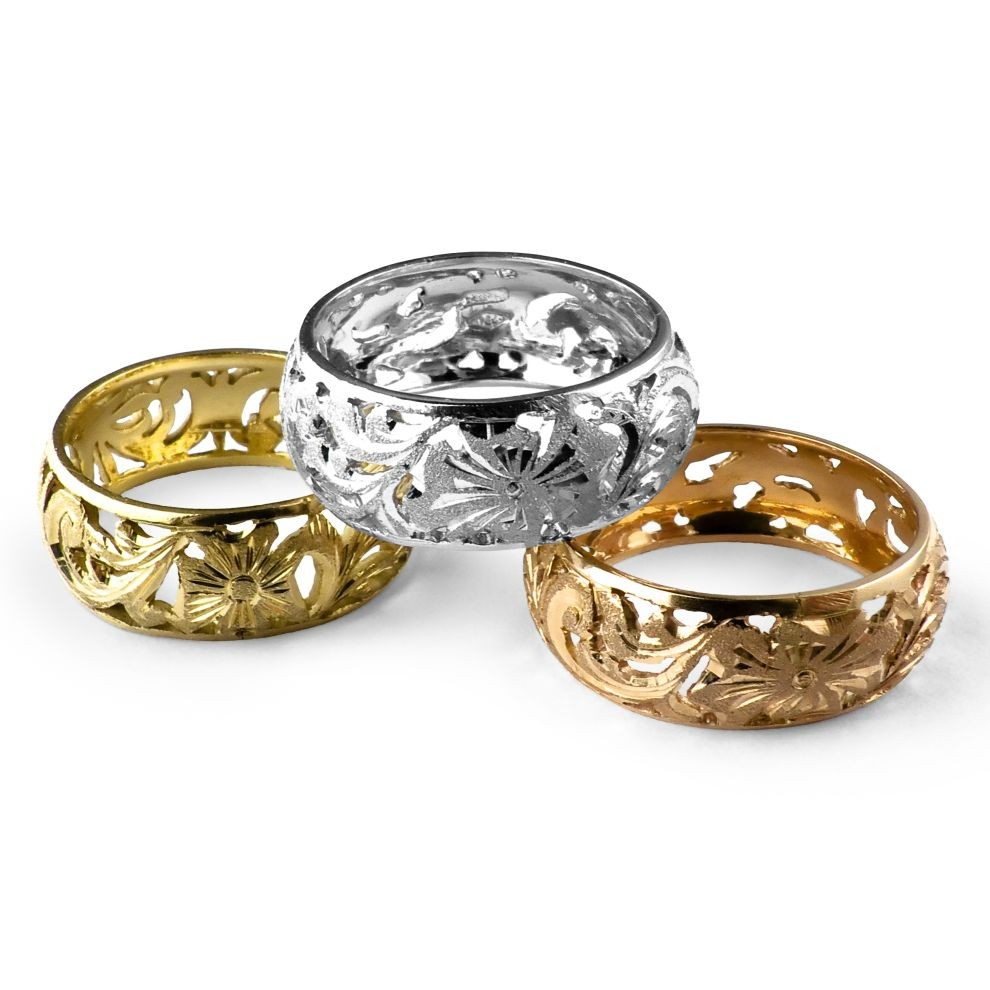 Fashion Gold Rings in Pure 18K from Florence Italy and Pierotucci