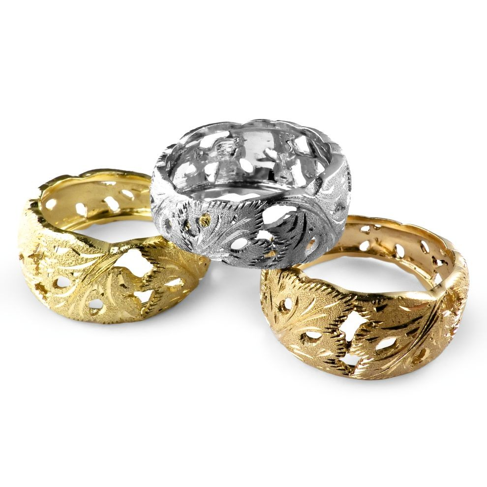 Italian 18K Gold Rings from Florence Italy by Pierotucci