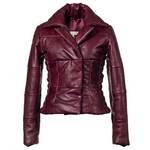 Bordeaux Ladies Warm Leather Jacket