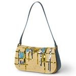 Straw Designer Bag with Sequin