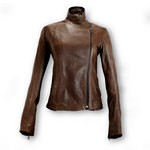 Dark Brown Leather Jacket from Florence