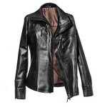 Classic Black Leather Jacket for Women