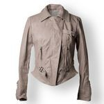 Cropped Vintage Italian Leather Jacket for her