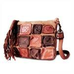 Leather Cross Body Purse in orange