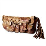 Leather Clutch Bag from Caterina Lucchi in tan