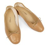 Porselli Beige Leather Ballet Flats