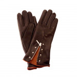Ladies Brown Leather Gloves