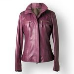 Ladies Leather Biker Jacket, customized fit