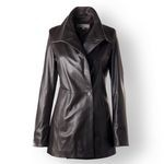 Long Leather Jacket for Women, custom made