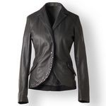 Studded Leather Blazer for Women