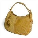 Leather Hobo Bag from Caterina Lucchi in yellow