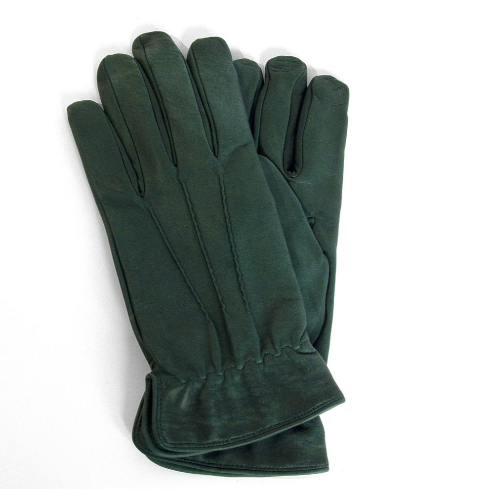 Men's Gloves in Green Leather from Florence Italy & Pierotucci
