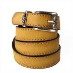 Handmade Leather Belts in yellow
