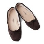 Porselli Dark Brown Suede Leather Ballet Flats