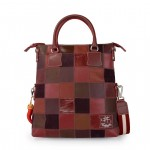 Fortunata Patchwork Bag in Red