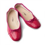 Porselli Cherry Red Leather Ballet Flats
