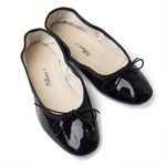 Porselli Black Patent Leather Ballet Flats