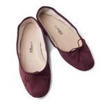Porselli Oxblood Suede Leather Ballet Flats