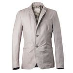 Casual Look Italian Leather Blazer with camo lining