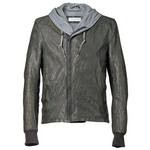 Men's Hooded Italian Leather Jacket