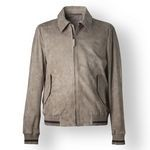 Men's Suede Leather Jacket, beige