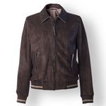 Men's Suede Jacket, brown