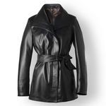 Black Italian Leather Jacket for Women