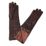 Paisly Print on a Long Leather Glove