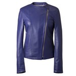Women's Assymetrical Zip Leather Jacket