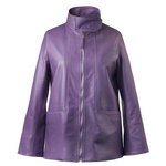 Women's Italian Leather Jacket in purple
