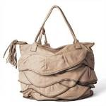 Leather Shoulder Bag for Women, beige