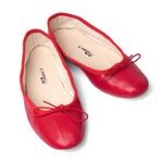 Porselli Red Leather Ballet Flats