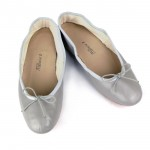 Porselli Light Gray Ballet Flats