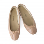 Porselli Nude Leather Ballet Flats